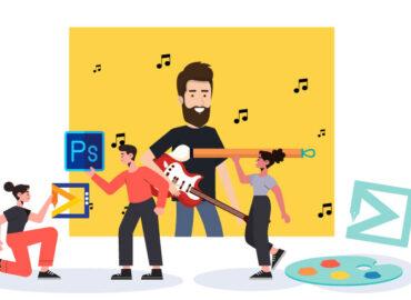 آموزش طراحی کاور موزیک