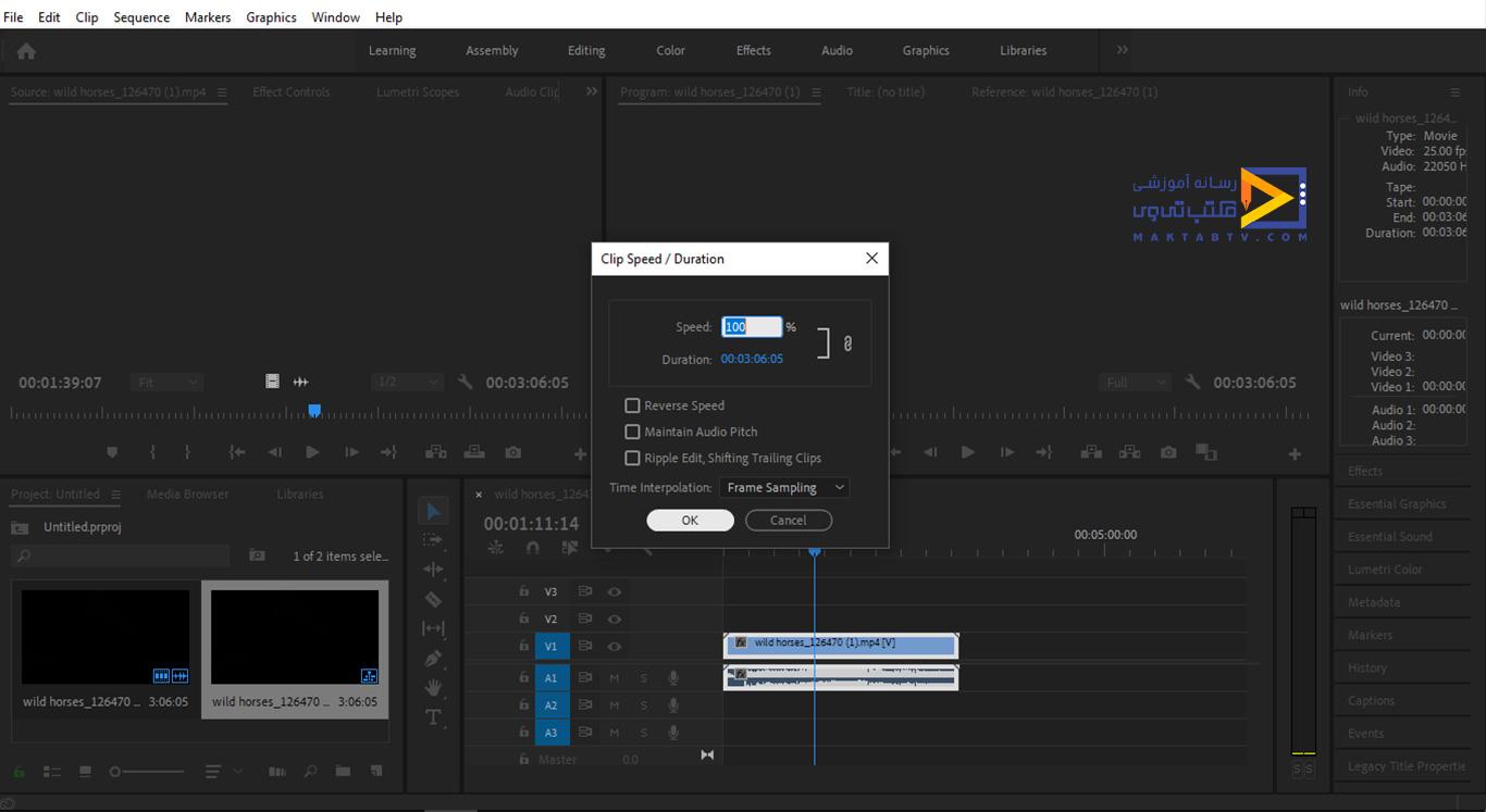 سرعت ویدئو به حالت اولیه خود برمیگردد