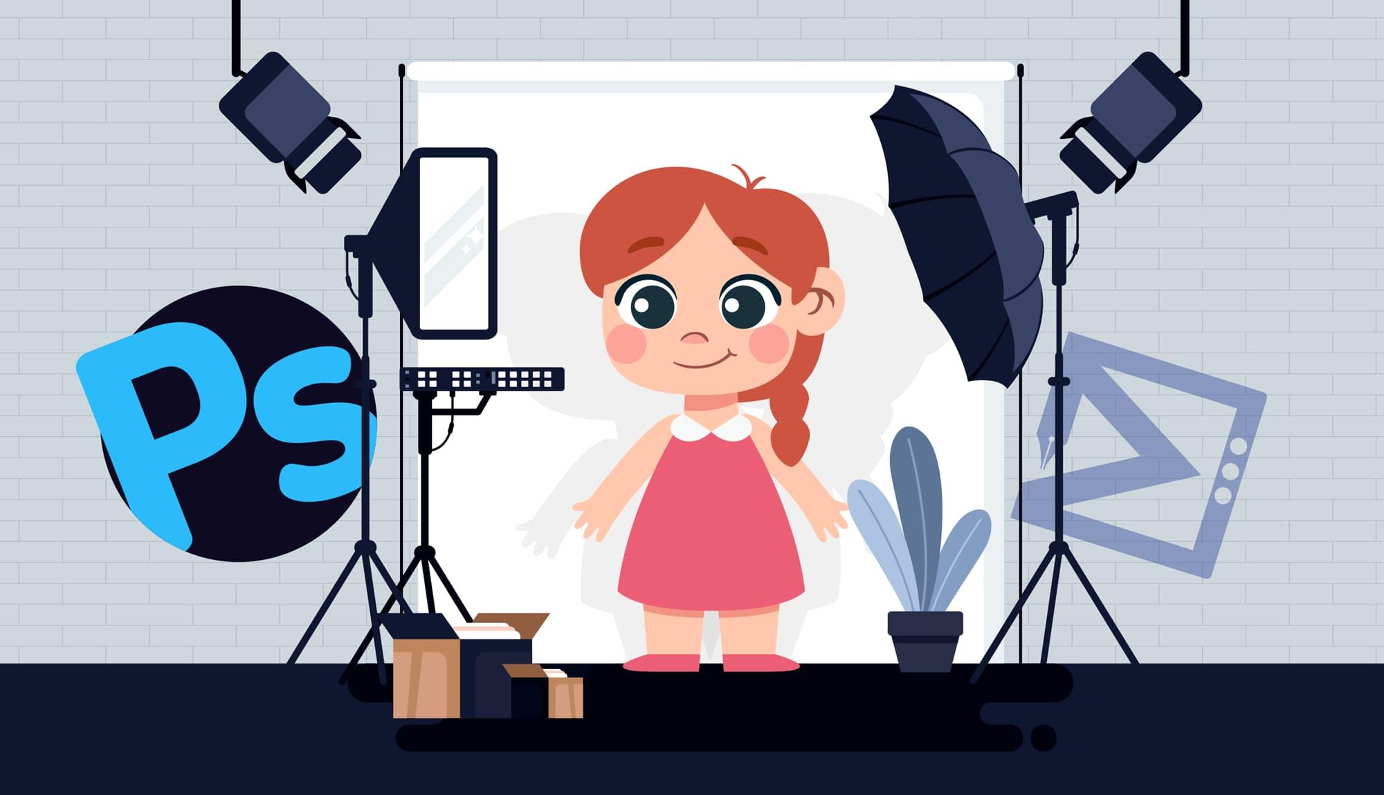 آموزش ادیت آتلیه ای عکس کودک