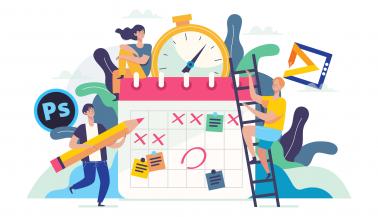آموزش طراحی تقویم