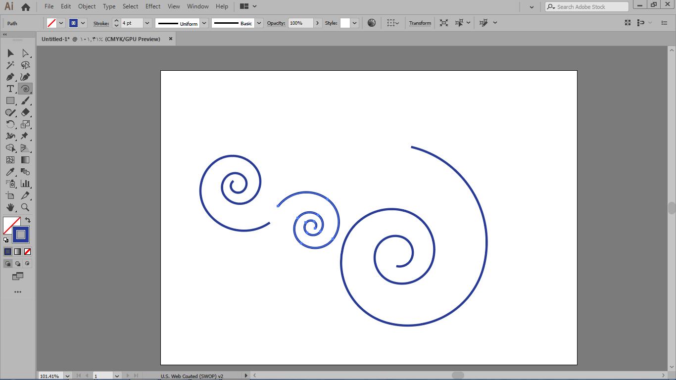 کار ابزار spiral یا مارپیچ در ایلوستریتور