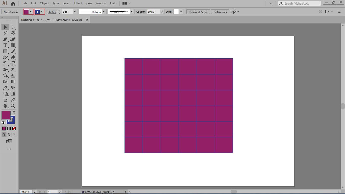 انتخاب رنگ دور خط و رنگ برای شبکه ماتریسی درایلوستریتور
