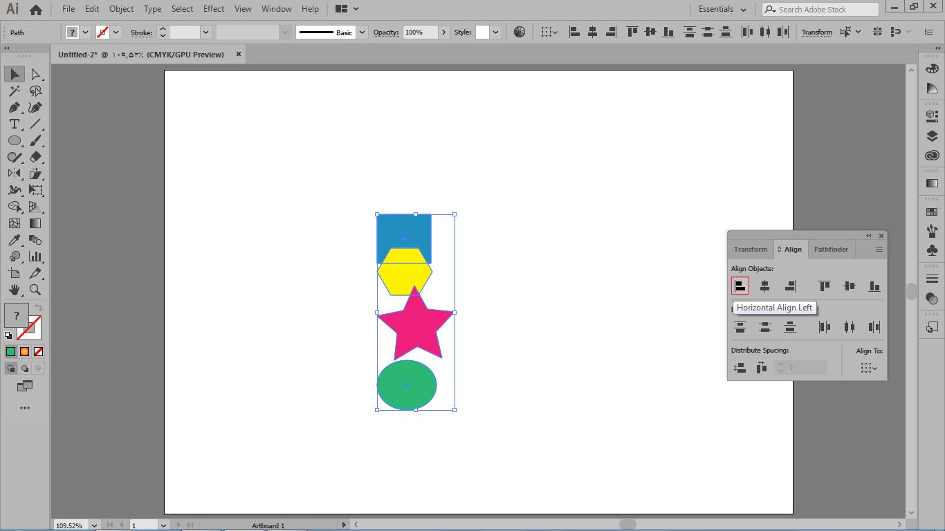بخش align objects فعال کردن گزینه اول این بخش در ایلوستریتور