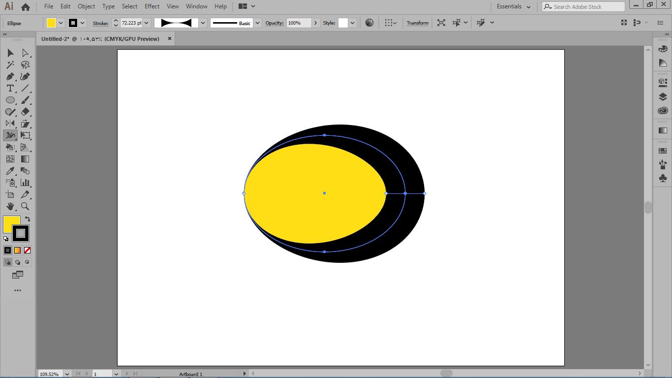 برای استفاده از width tool باید موضوع دارای خط دور باشه در تغییر شکل ترکیبی در نرم افزار ایلوستریتور