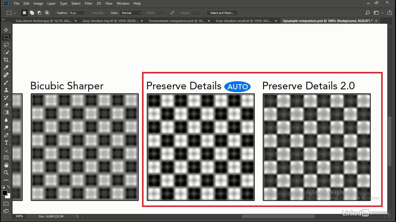 دو مدل preserve details در هنگام افزایش پیکسل