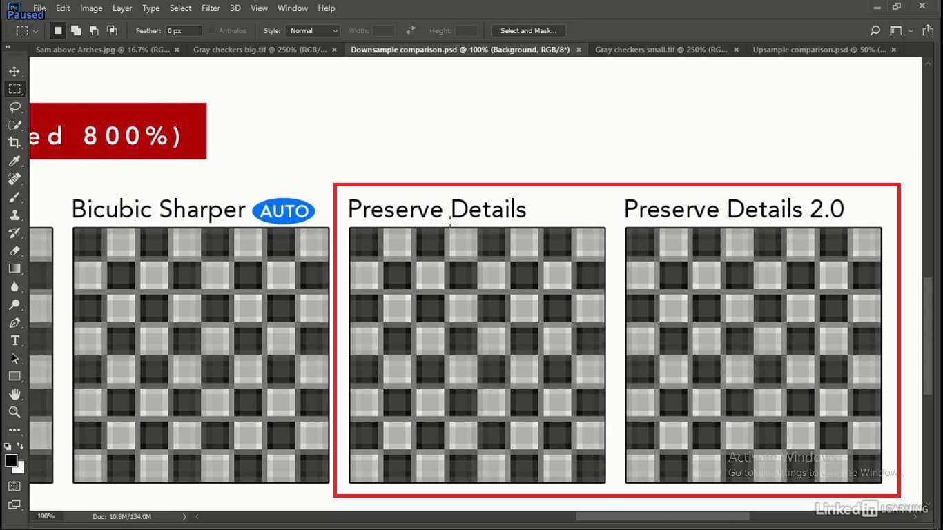 دو مدل preserve details در هنگام حذف پیکسل