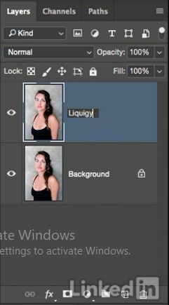 ایجاد لایه جدید به نام liquify در فتوشاپ در آموزش روتوش پرتره