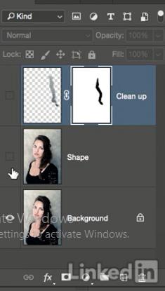 داشتن تصویر اصلی در لایه در فتوشاپ در آموزش روتوش پرتره