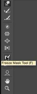 استفاده از ابزار Freeze Mask در فتوشاپ در آموزش روتوش پرتره