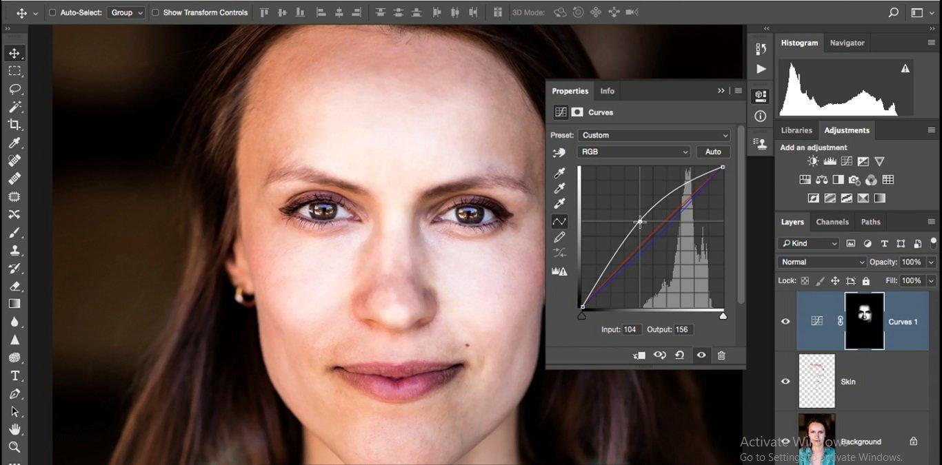 روشن کردن محدوره صورت در فتوشاپ از آموزش روتوش پرتره