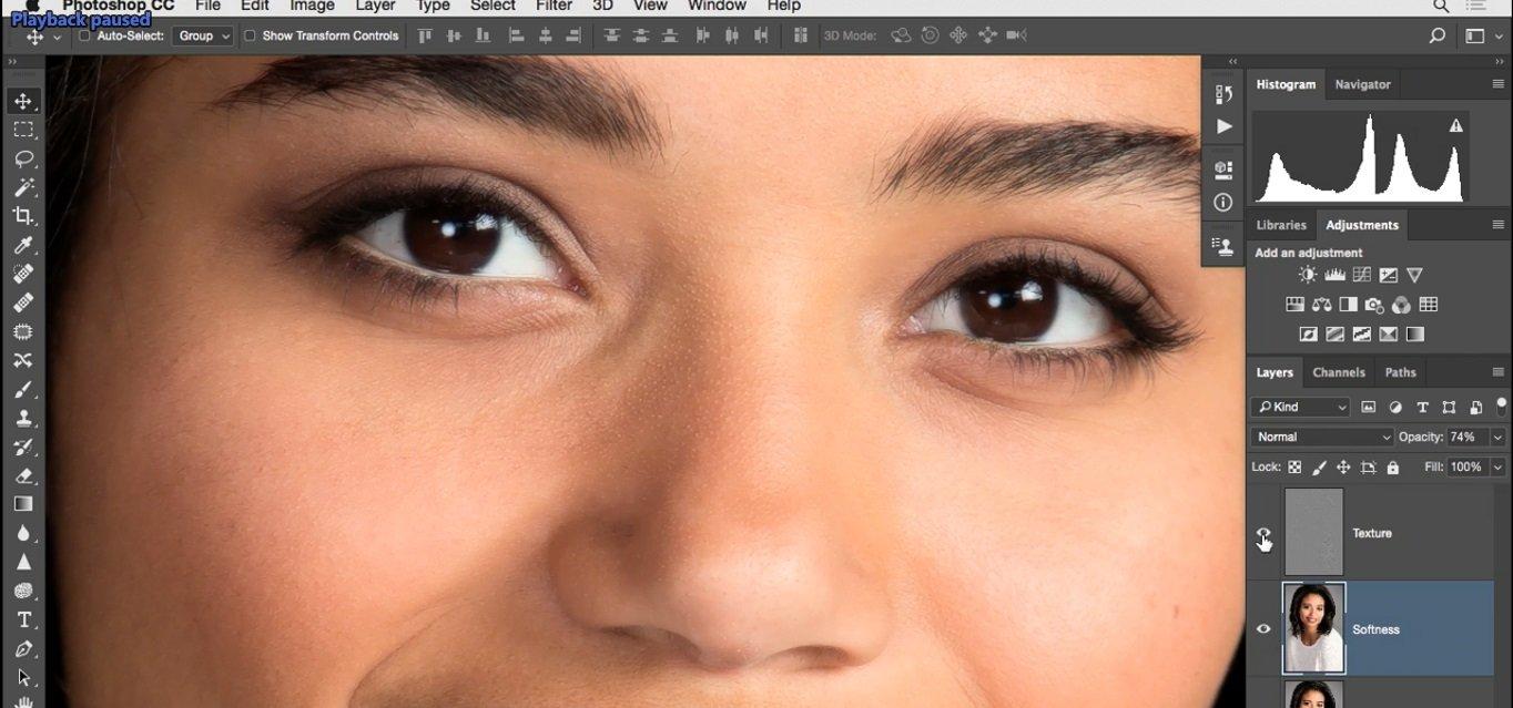 تاثیر این لایه روی لب ها چشم ها و مژه ها در فتوشاپ از آموزش روتوش پرتره
