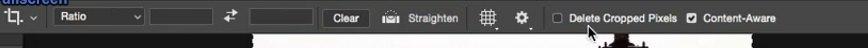 غیر فعال کردن Delet cropped Pixels در نوارoption bar در فتوشاپ در دوره آموزشی روتوش پرتره