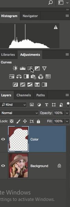 اعمال curves به تصویر در فتوشاپ در دوره آموزشی روتوش پرتره