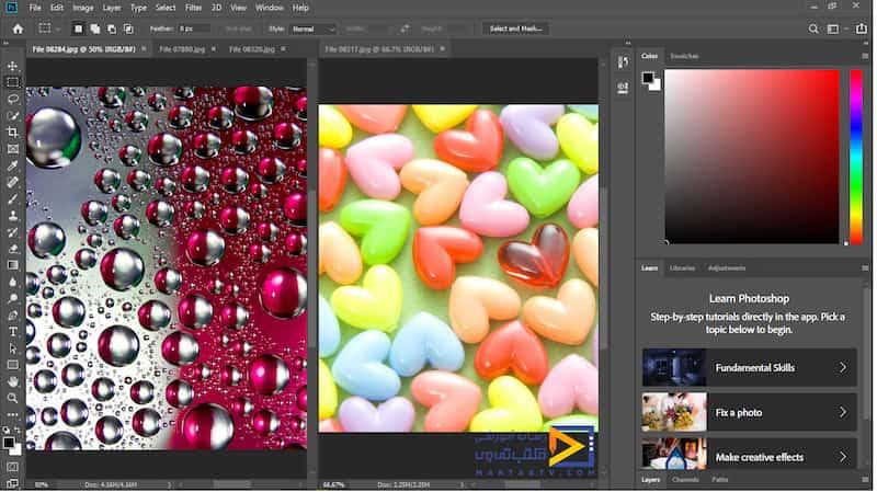 نمایش دو تصویر اول به صورت سطری،عمودی در محیط فتوشاپ