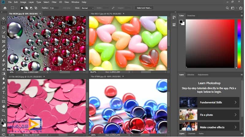 نمایش چهار تصویر اول به صورت فشرده در نرم افزار فتوشاپ