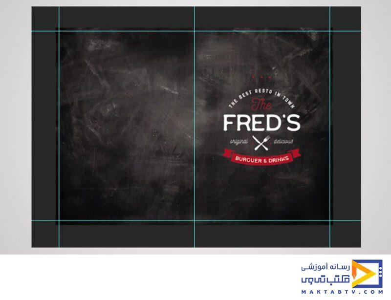 اضافه کردن تصاویر برای طراحی تراکت رستوران